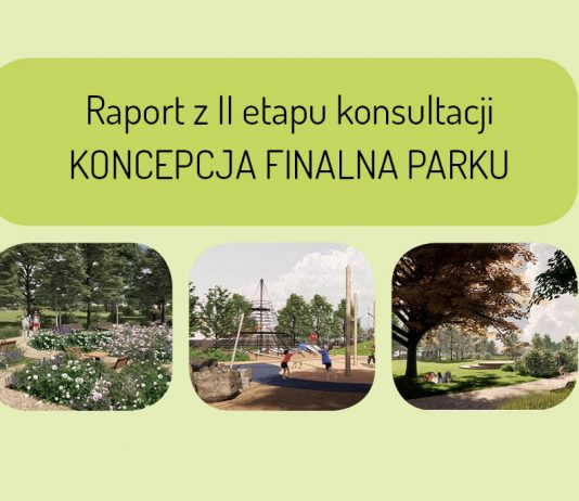 Ilustracja. Raport z II etapu konsultacji KONCEPCJA FINALNA PARKU