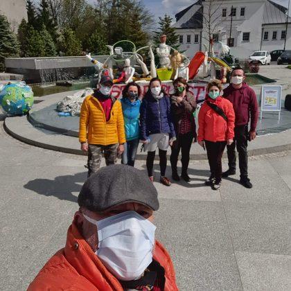 Akcja STOP PLASTIK - instalacja na skwerze Kisiela, fot. Rob Roy