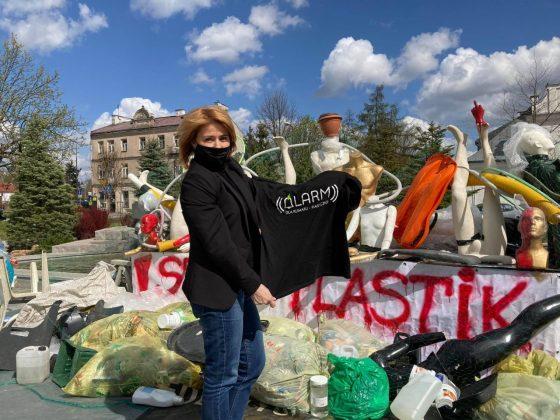 Wiceburmistrz Hanna Kułakowska-Michalak wspiera działania grupy Alarm dla Klimatu Piaseczno