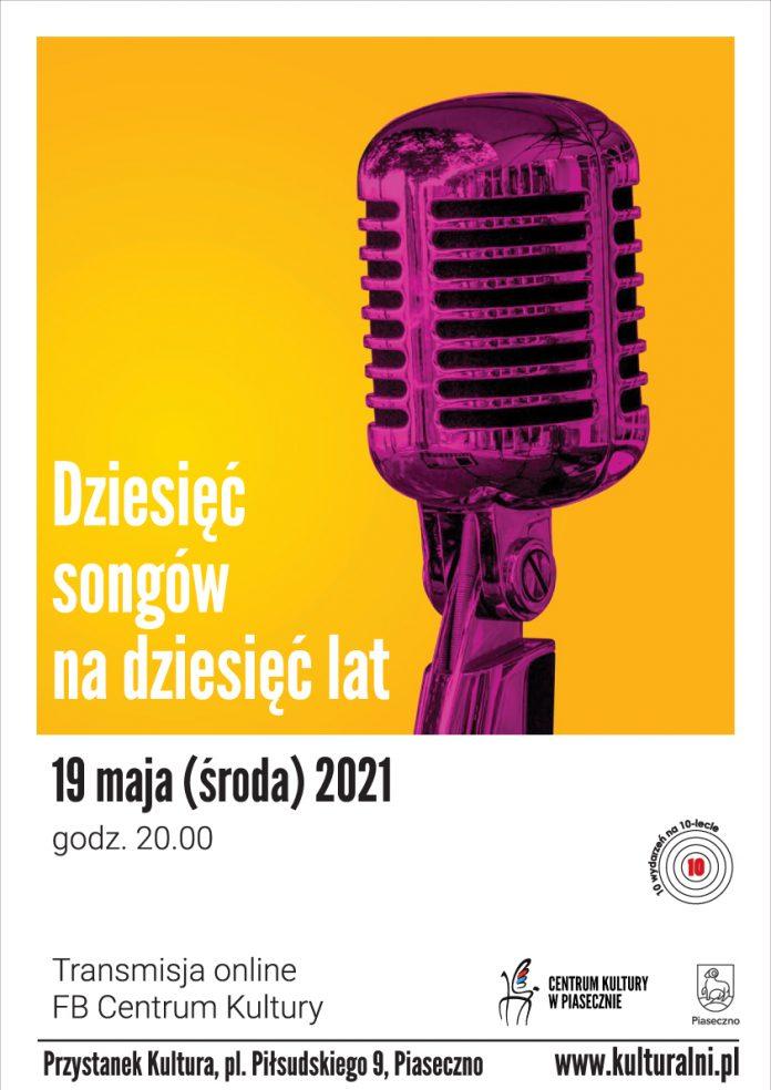 10 SONGÓW NA 10 LAT -plakat koncertu