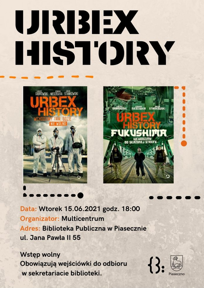 Spotkanie z Urbex History - plakat