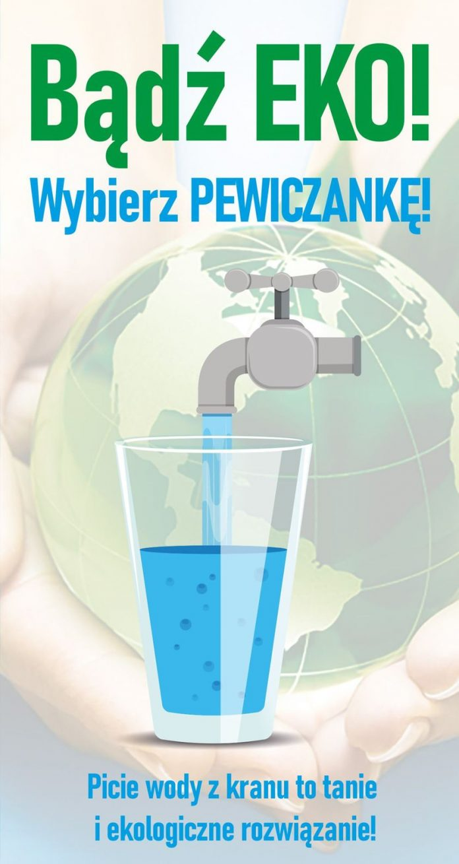 Wybierz wodę z kranu zamiast wody z butelki