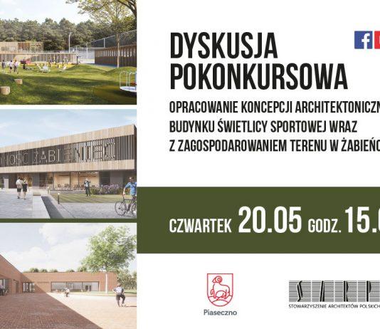 Ilustracja. Dyskusja pokonkursowa o koncepcji architektonicznej budynku świetlicy sportowej z zagospodarowaniem terenu w Żabieńcu