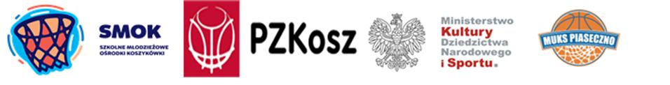 Logotypy. Bezpłatne treningi koszykówki w szkołach podstawowych nr 3 i 5 w ramach programu SMOK