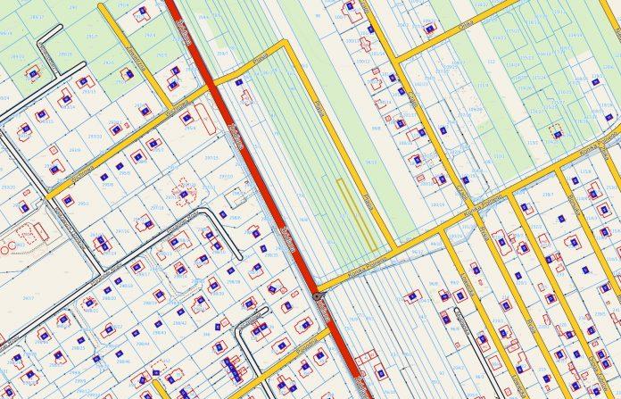 Zrzut ekranu mapy. Lokalizacja Sprzedaż nieruchomości niezabudowanej położonej w Jesówce działka ew. nr 91/3