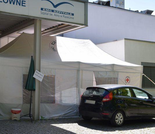 Punkt pobrań Drive Thru w Szpitalu św. Anny w Piasecznie, foto: Starostwo Powiatowe w Piasecznie