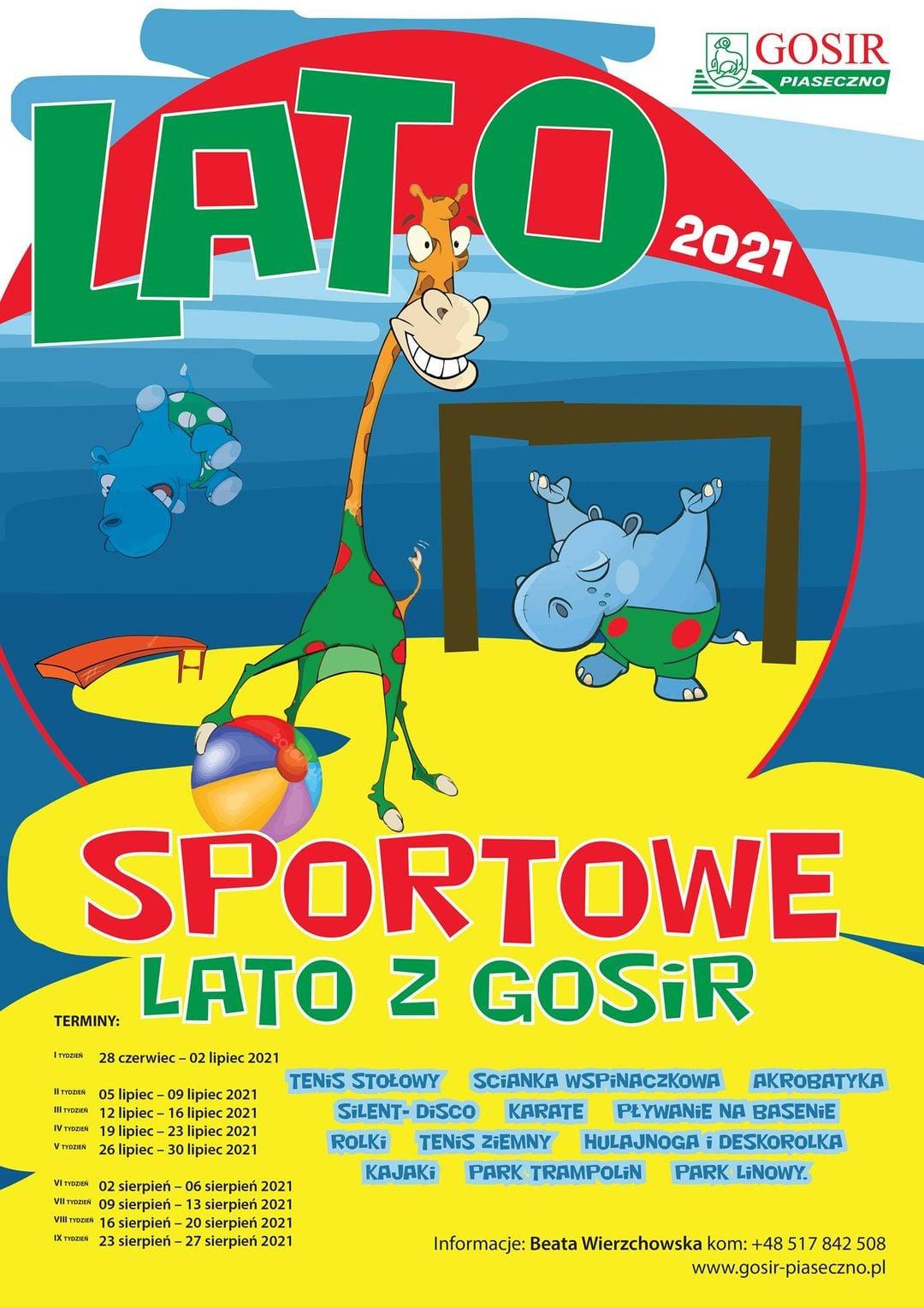 Sportowe Lato z GOSiR Piaseczno 2021 Półkolonie w Piasecznie