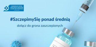 Ilustracja. #SzczepimySię ponad średnią - dołącz do grona zaszczepionych mieszkańców gminy Piaseczno