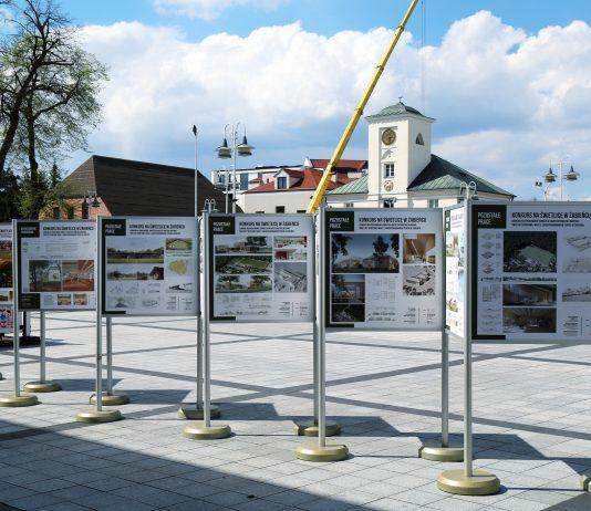 Ilustracja. Wystawa prac konkursowych na budynek świetlicy sportowej w Żabieńcu