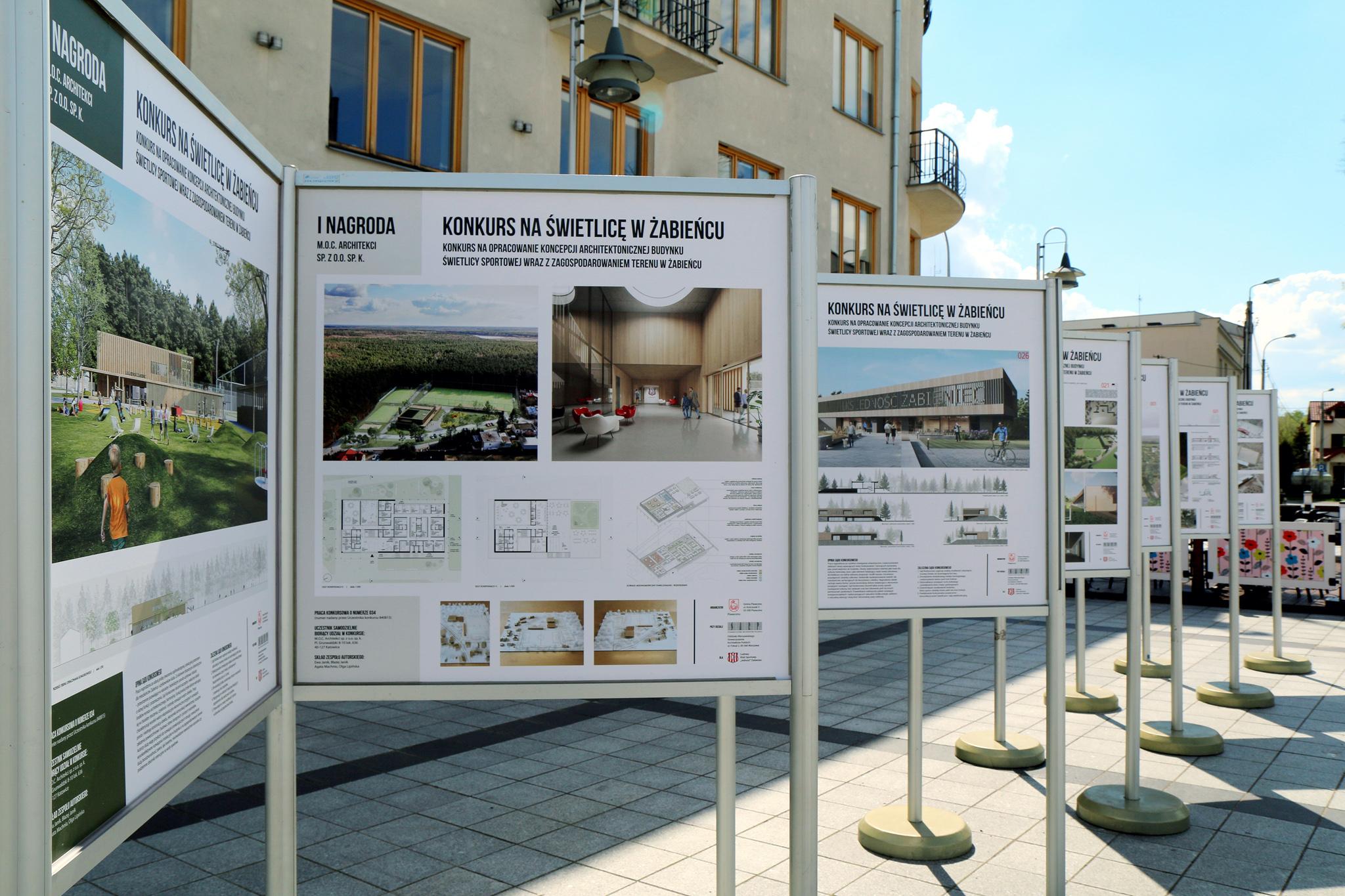 Wystawa prac konkursowych na budynek świetlicy sportowej w Żabieńcu