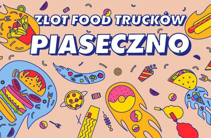 Ilustracja. Zlot Food Trucków w Piasecznie 2021 rok