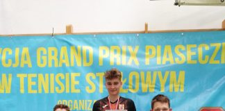 XXIII edycja Grand Prix Piaseczna w tenisie stołowym