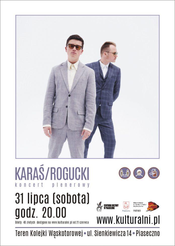 KARAŚ - ROGUCKI - plakat koncertu