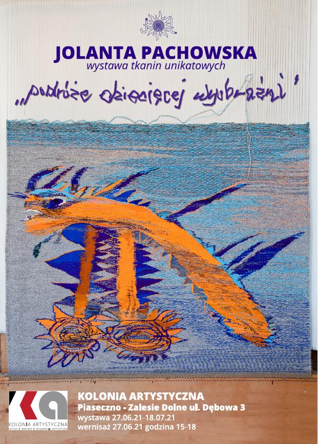 Wystawa tkanin w Kolonii Artystycznej