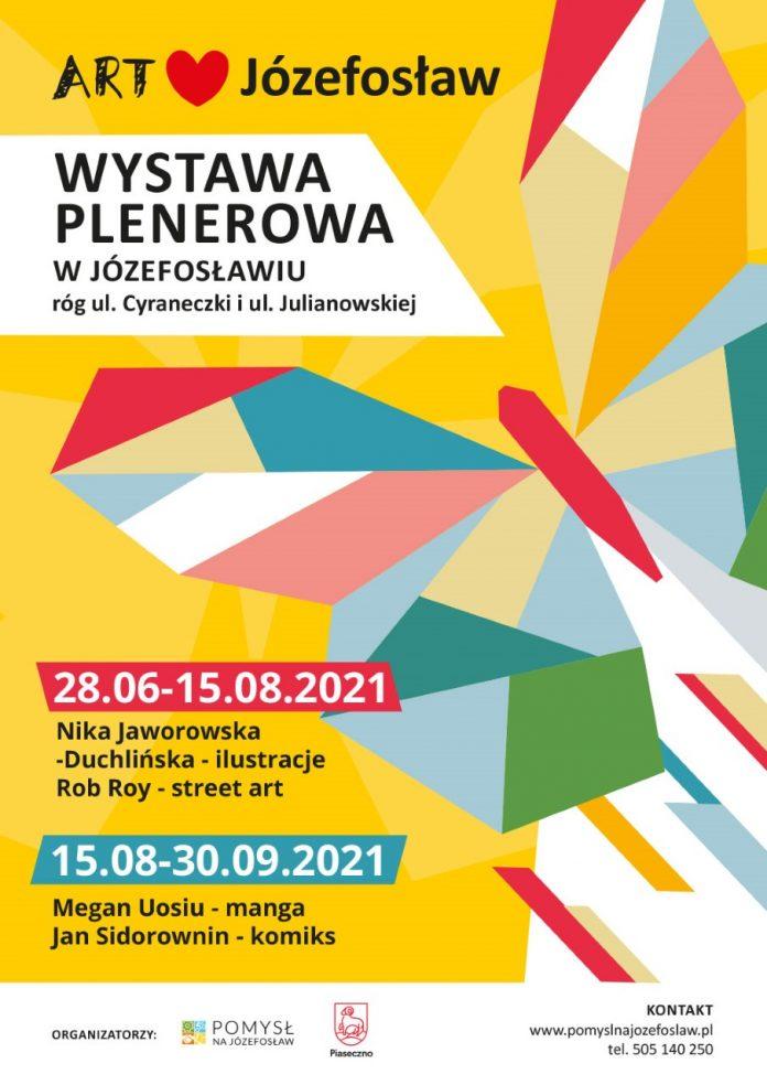 Plakat wydarzenia ART Józefosław - street art, ilustracja, komiks, manga