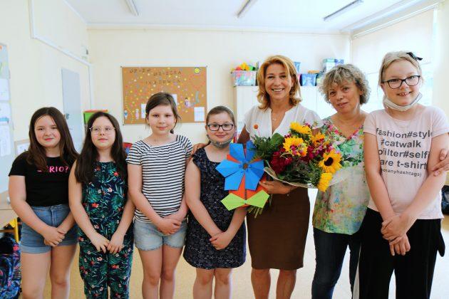 Spotkanie wiceburmistrz z dziećmi w Szkole Podstawowej nr 5 w Piasecznie