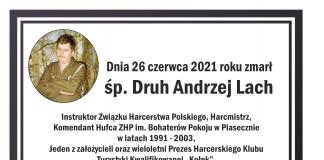 Ostatnie pożegnanie Andrzeja Lacha. Treść na grafice jest w treści informacji.