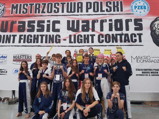 Ilustracja. Ekipa X Fight - Mistrzostwa Polski Kadetów i Dzieci w Kickboxingu w formułach Pointfighting i Light contact
