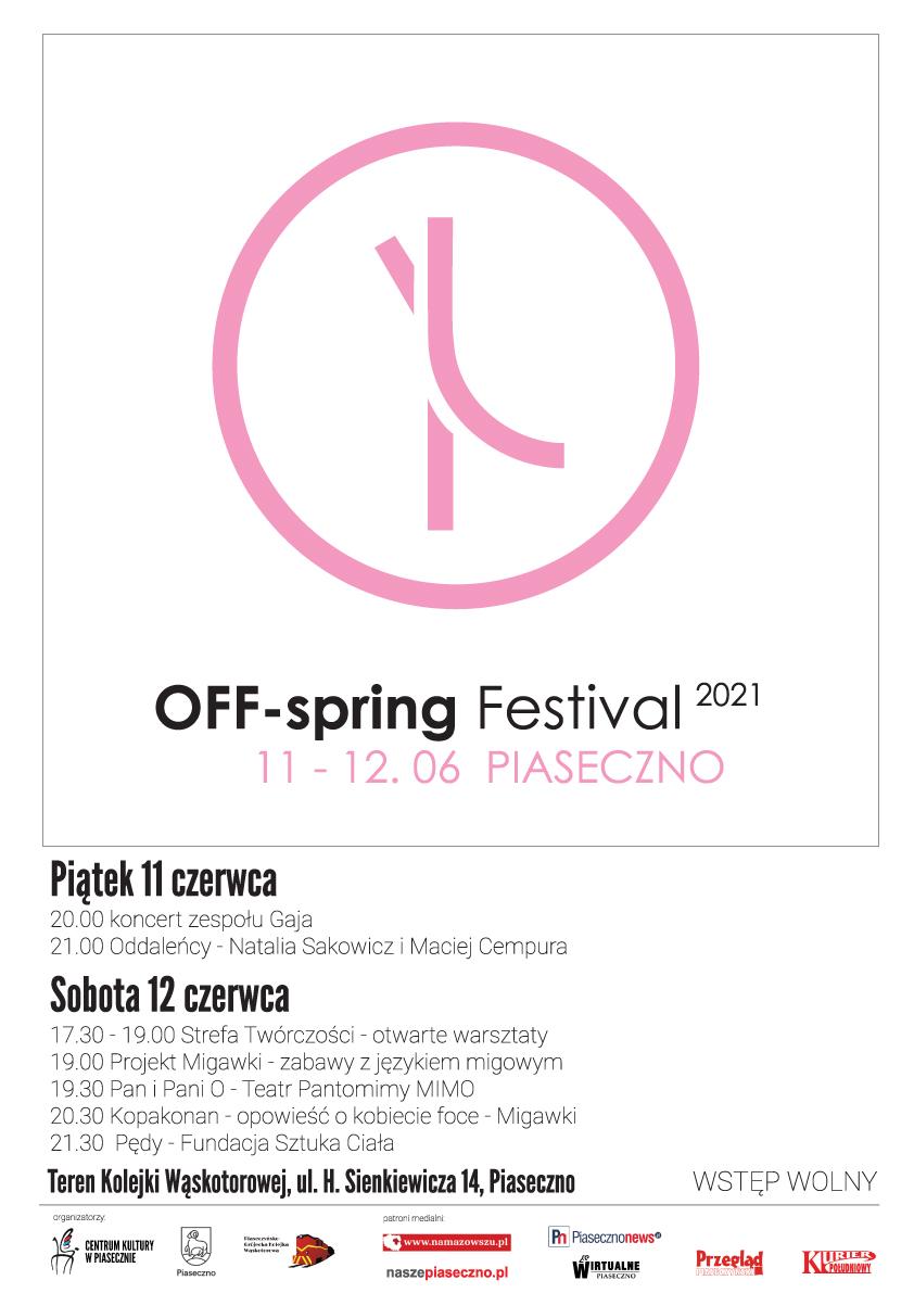 Plakat wydarzenia OFF-spring Festival 2021 Piaseczno