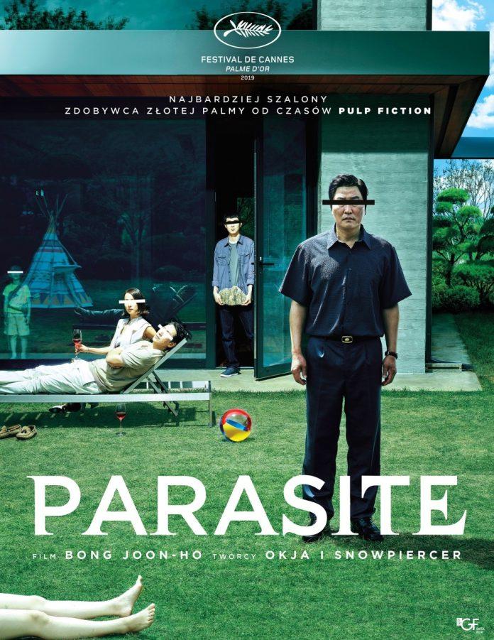 Plakat Film Parasite w Piaseczyńskim Kinie Plenerowym
