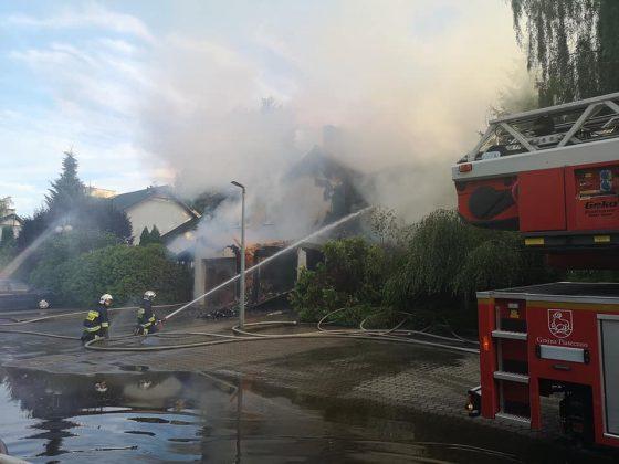 pożar w Józefosławiu