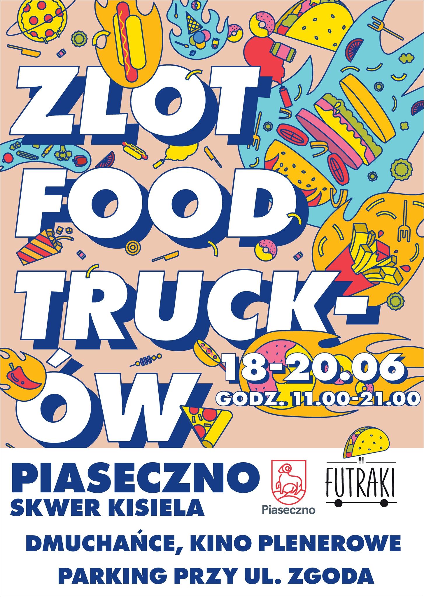 Plakat wydarzenia Zlot Food Trucków Piaseczno 2021