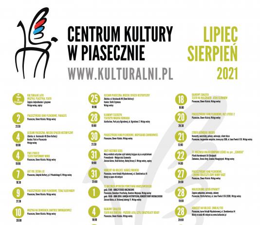 Plakat zbiorowy Kulturalny lipiec i sierpień 2021