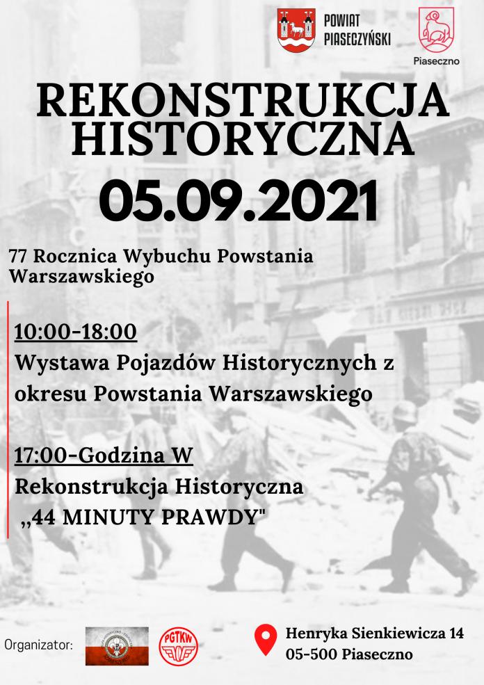 plakat wydarzenia 44 minuty prawdy - rekonstrukcja historyczna