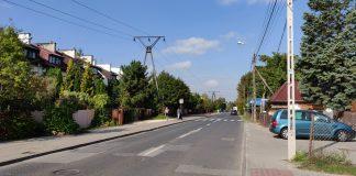 Ulica Geodetów w kierunku ulicy Ogrodowej