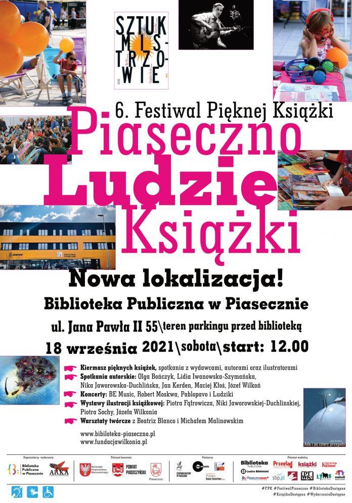 Plakat wydarzenia 6. Festiwal Pięknej Książki Piaseczno - Ludzie - Książki
