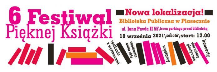 Baner wydarzenia 6. Festiwal Pięknej Książki w Piasecznie