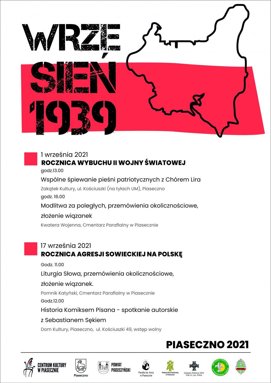 Plakat wydarzenia 82. rocznica wybuchu II Wojny Światowej
