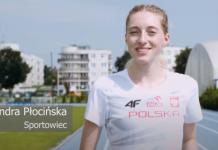 Aleksandra Płocińska - lekkoatletka na piaseczyńskiej bieżni na stadionie miejskim