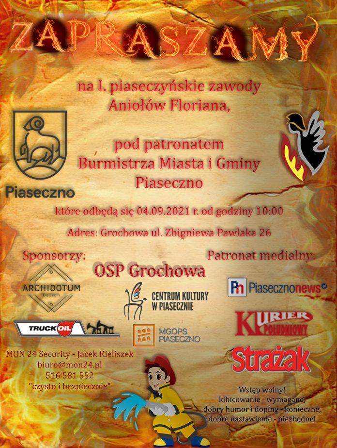 Plakat wydarzenia Piaseczyńskie Zawody Pożarnicze Aniołów Floriana