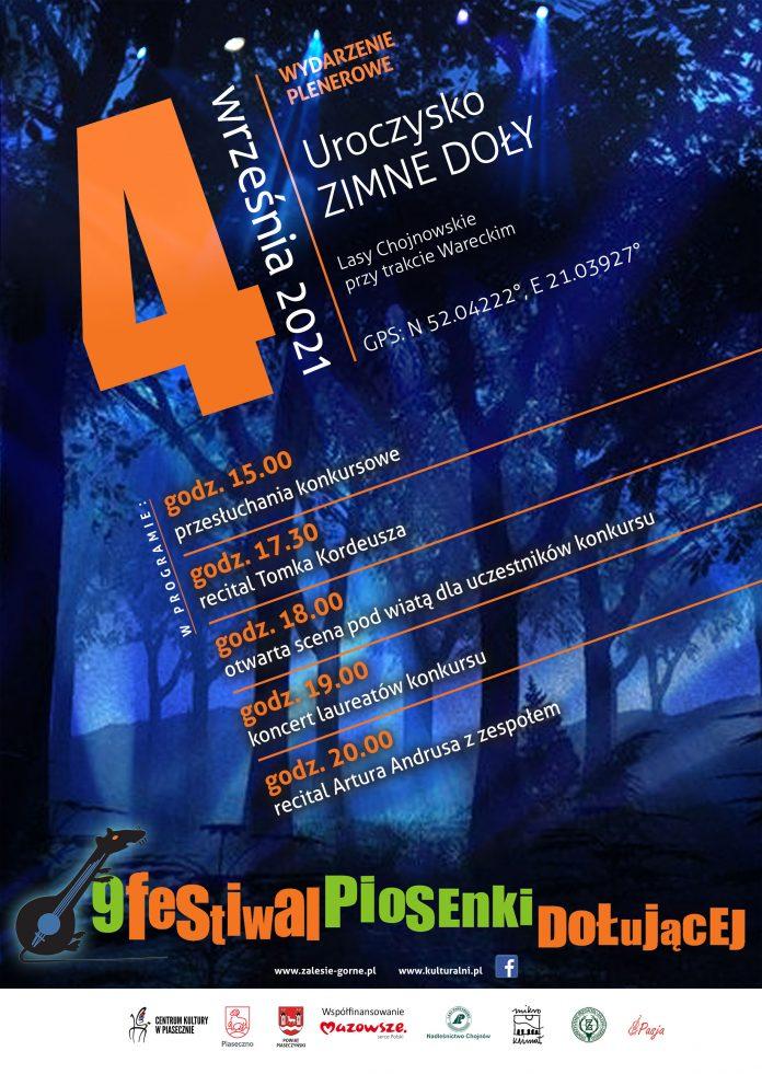 Plakat wydarzenia IX Festiwal Piosenki Dołującej na Zimnych Dołach