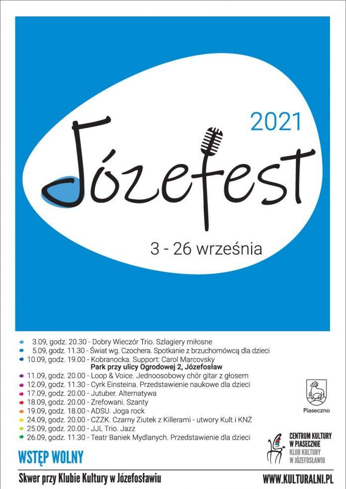 Plakat wydarzenia JÓZEFEST W JÓZEFOSŁAWIU 2021