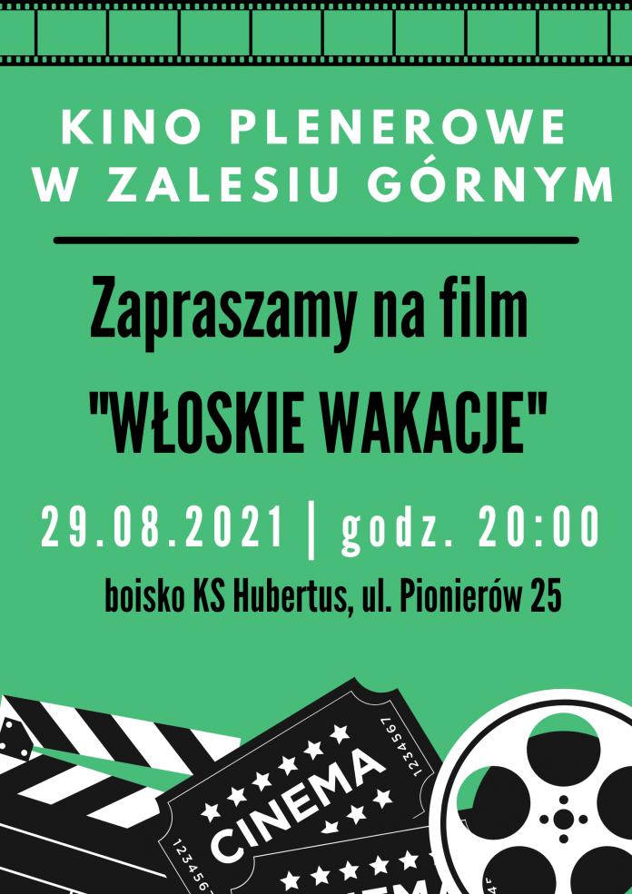 Plakat wydarzenia Włoskie wakacje - kino plenerowe w Zalesiu Górnym