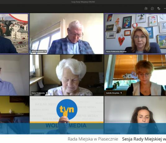 XLII sesja online Rady Miejskiej w Piasecznie
