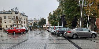 Rozszerzenie Strefy Płatnego Parkowania. Na zdjęciu miejsca postojowe w sąsiedztwie Ratusza i kościoła św. Anny.