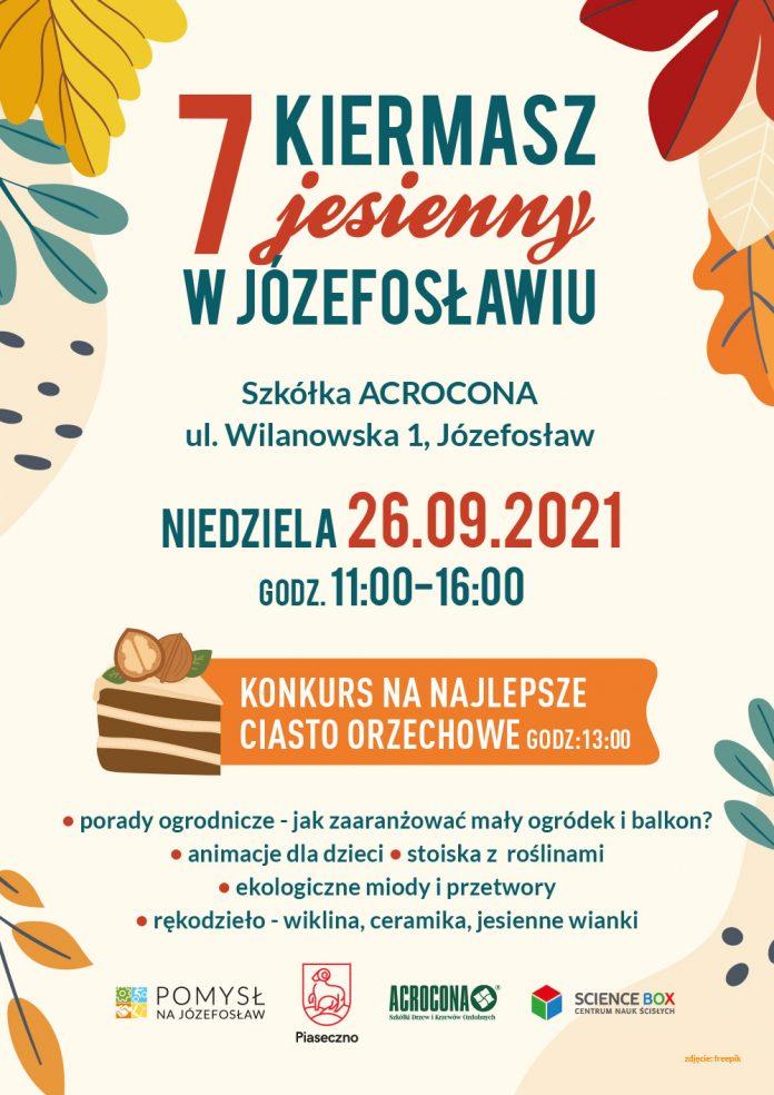 Plakat wydarzenia 7. Kiermasz Jesienny w Acroconie w Józefosławiu