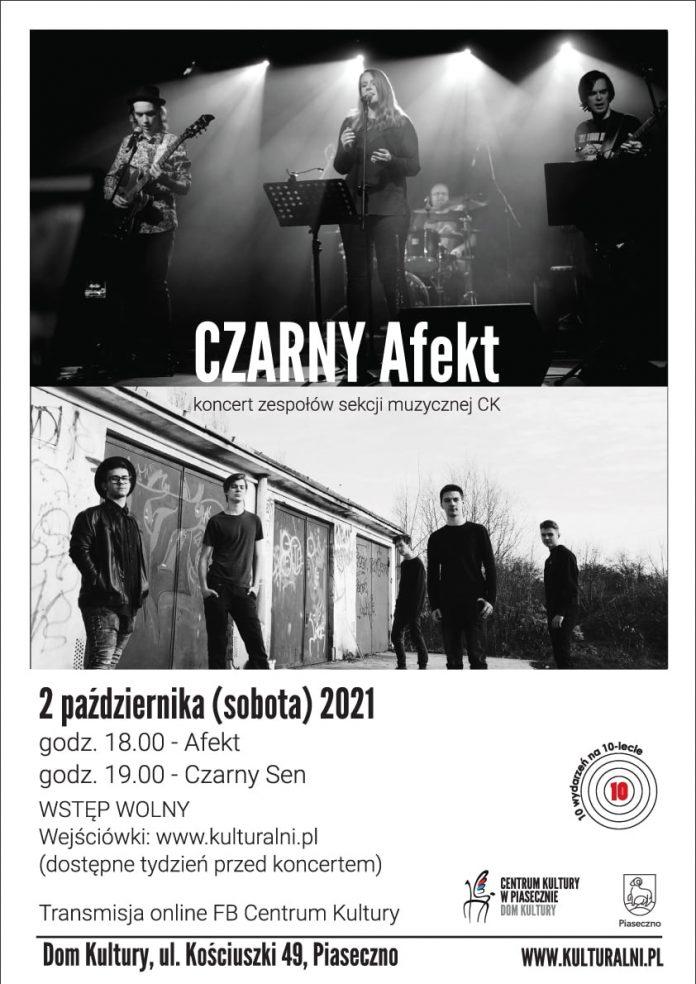Plakat koncertu CZARNY Afekt w Domu Kultury