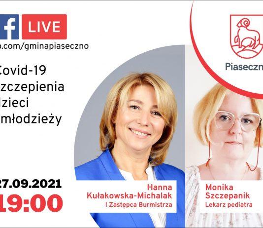 Ilustracja. Facebook Live z lekarzem na temat szczepień dzieci i młodzieży przeciw COVID-19