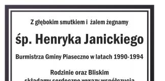 Ilustracja żegnamy Henryka Janickiego