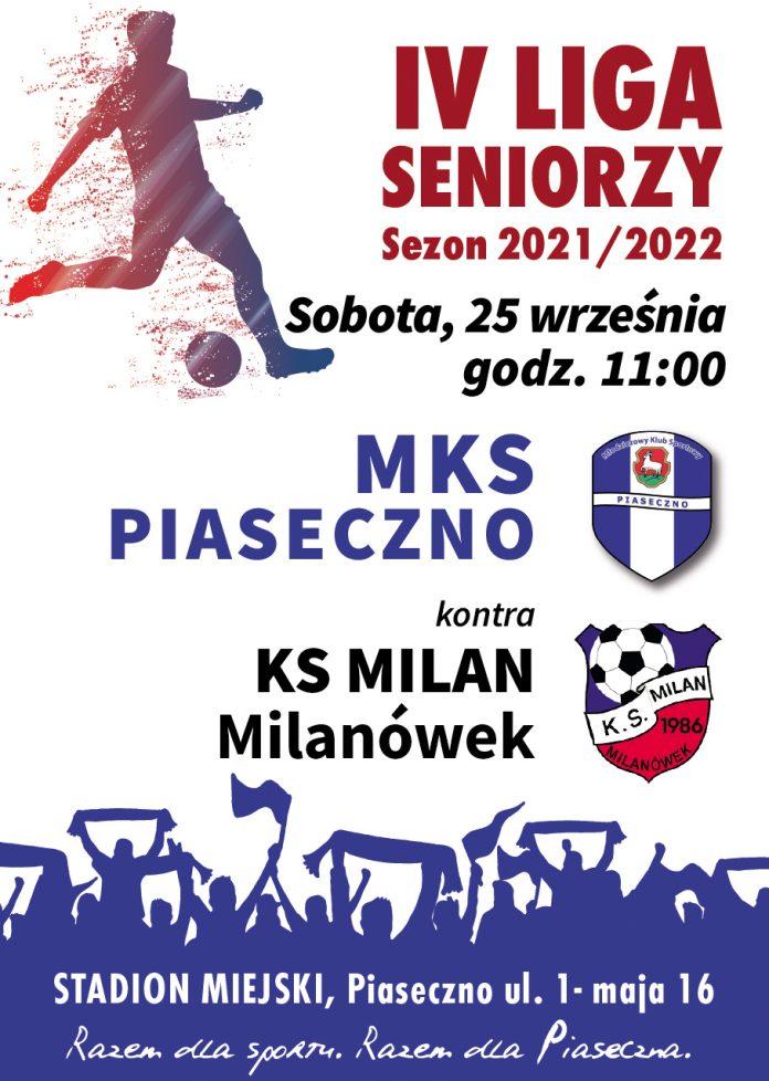 Plakat wydarzenia Mecz MKS Piaseczno vs Milanem Milanówek