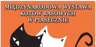 Plakat wydarzenia Międzynarodowa Wystawa Kotów Rasowych w Piasecznie 2021