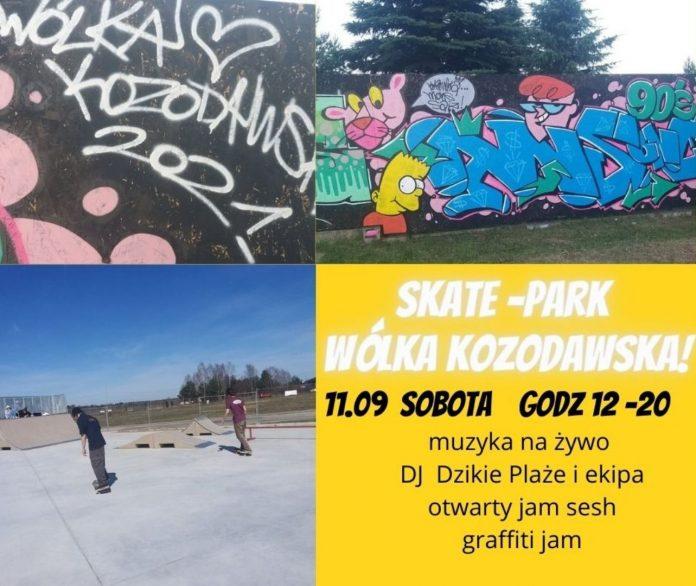 Ilustracja. Ostatnie dni lata w skateparku w Wólce Kozodawskiej