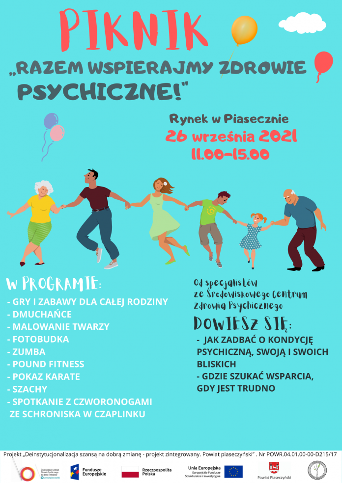 Plakat wydarzenia Piknik profilaktyczny - Razem wspierajmy zdrowie psychiczne