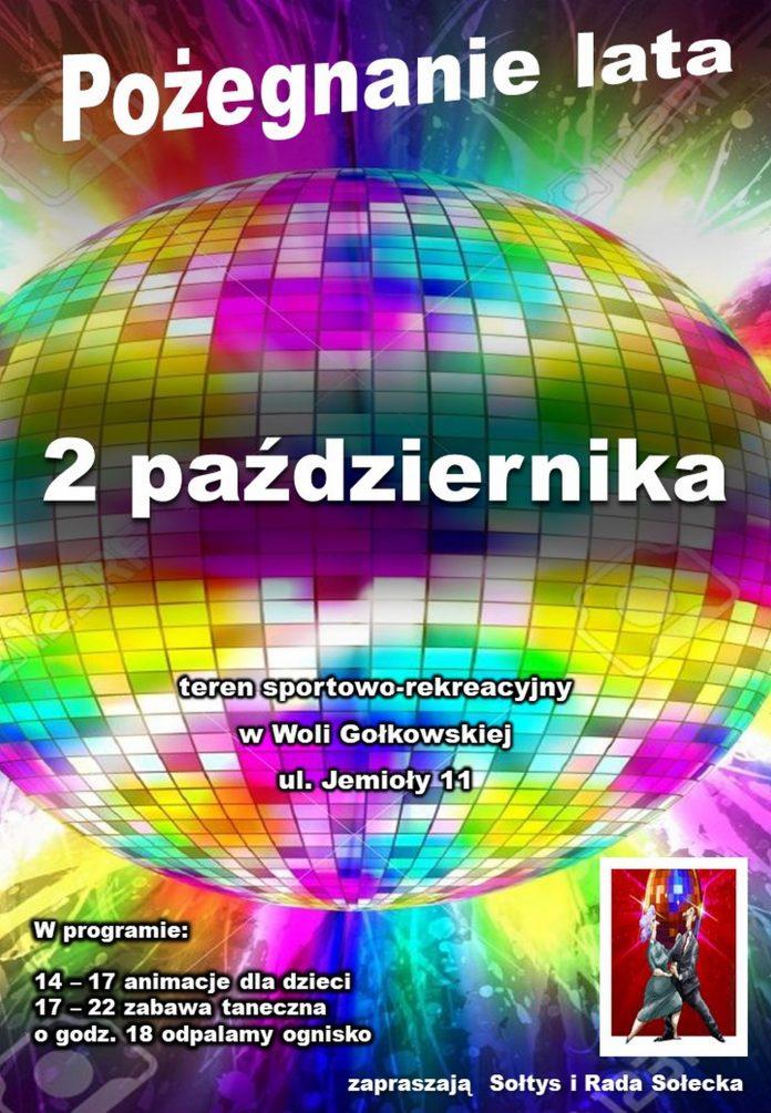 Plakat wydarzenia Pożegnanie lata w Woli Gołkowskiej