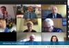 Zrzut ekranu z sesji online XLIII sesja online Rady Miejskiej w Piasecznie