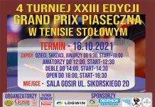 4 turniej Grand Prix Piaseczna już 16 października